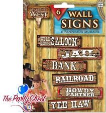 Wild West Sign Decorations - Party Western Cowboy Signs Way out Decoration 6