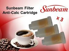 3 x GENUINE SUNBEAM FILTER ANTI-CALC EM6900 EM6910 EM7000 CARTRIDGE EM69101