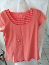 Woman's Cap Sleeve Orange Blouse by Chico's Size 1