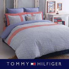 Tommy Hilfiger Boho Duvet Cover 3pc Set Vine Floral Queen Pale Blue New