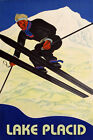 Lake Placid Ski Winter Sport Jumping Mountain  Vintage Poster Repro FREE S/H