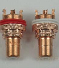 1 pair Hi End CMC-805 swiss CU pure red Copper RCA socket