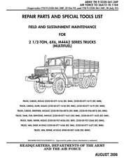 Cargo Truck M44A2 M35A2 M36A2 M35A2C M49A2C M50A3  Parts and Special Tools