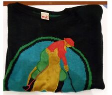 Mondi Black Women's Sweater with Polo Game Design Vintage Made in Germany 38