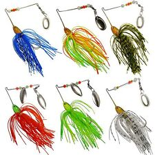 A0195 STOCK 6 PZ ARTIFICIALE SPINNERBAITS LURES LUCCIO BLACK BASS PIKE LAKE
