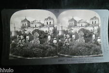 STA736 Historic Cathedral of Leon Nicaragua STEREO Photo stereoview 1900