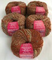 5 Filatura Di Crosa Fancy Aliseo Tweed Yarn Skeins #3 Long Self Striping Wool