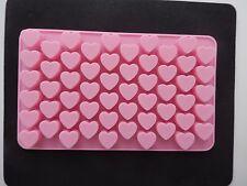 55 Holes Silicone Heart Shape Mould For Cake Decoration Chocolate Valentines UK