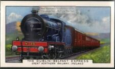 The Dublin - Belfast Express Ireland Railway 80+ Y/O Ad Trade Card