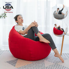Dorm Bean Bag Chair Sofa Couch Cover Indoor Outdoor Lazy Lounger for Kids Adults