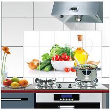 PVC Obst Muster Küche Anti-Rauch Aufkleber Wandsticker Fliesen Sticker Dekor DRP