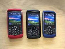 Genuine Blackberry Pearl 9100 9105 Phone Cover Gel Pouch 3 Pack Red Blue Black