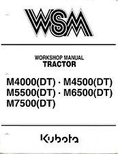 Kubota M4000 M4500 M5500 M6500 M7500 Tractor Workshop Service Repair Manual