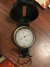 Engineer lensatic vintage compass
