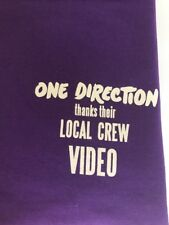 One Direction 2013 Concert tour Tshirt size XL local crew VIDEO Harry Styles NEW