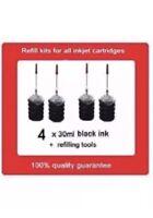 4 x refill kits for HP61 & HP61XL Black ink cartridges Officejet 4630,Envy 5530