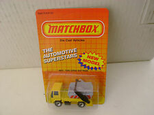 1987 MATCHBOX SUPERFAST MB70 #70 FORD CARGO SKIP TRUCK MOC