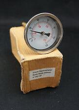 63mm Termometro a quadrante di 0 ° a 120 ° C&F indietro Ingresso Stelo 100mm