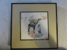 Unique African Batik Cloth Art from Zimbabwe with Frame and Matting