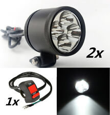 Universal Spotlight Motorcycle LED Shooter Headlight Driving Fog Lamp 40W 12V 2x