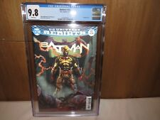 """Batman #22 CGC 9.8 White Pages Lenticular Cover """"THE BUTTON"""" DC Comics BEAUTIFUL"""