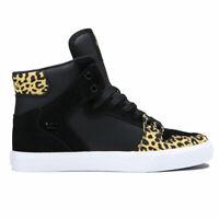 Supra Men's Vaider Hi Top Sneaker Shoes Animal Black White Footwear Skate Casual