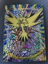 More details for pokemon topps chrome series 2 sparkle chrome #145 zapoos