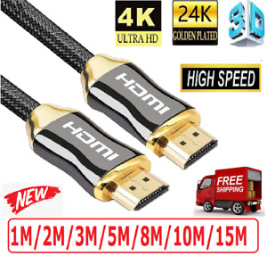 Premium Gold Plated Hdmi Cable V2.0  High Speed Audio 3D 4K Ultra HD 1m~15m