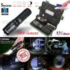 5000LM X800 Flashlight CREE XM-L T6 LED Zoom Military Torch ShadowHawk + Battery