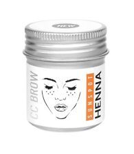 Henna to simulate freckles Lucas Cosmetics Sunspot Henna in a jar
