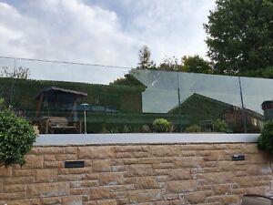 FRAMELESS GLASS BALUSTRADE 17.52mm & 21.52mmBALCONY LANDING STAINLESS STEEL