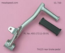 TA125 Brake Pedal, Yamaha TA125, TA125, 400-27211-00-91, Rear Brake Pedal TA125.