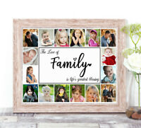 Personalised FAMILY Photo Collage Word Art Print New Home Keepsake Gift