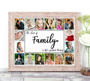 Personalised FAMILY Photo Collage Word Art Print New Home Mothers Day Gift