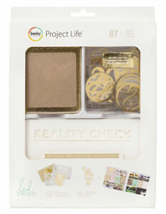 Project Life KRAFT AND FOIL Kit~Heidi Swapp~Cute Cards!~87 pieces~Fast Ship!