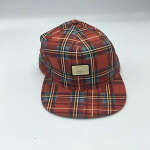 SALE TEN DEEP 10 DEEP GOLD STANDARD SNAPBACK CAP RED PLAID BRAND NEW ONE SIZE