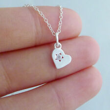 Solid 925 Sterling Silver Floating Love Heart CZ Star Necklace Bracelet Pendant