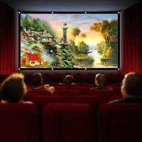 3D Movie120inch Portable Foldable Projector Screen 16:9 HD Home Theater Outdoor