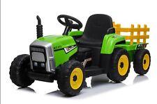 Kinder Elektroauto Traktor+Anhänger Kinderauto Kinderfahrzeug Elektro Neu 2x25 W
