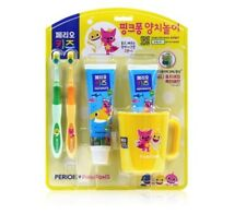 Pinkfong Kids Toothbrush Toothpaste Cup set For 3-5Y Baby Infant Kids