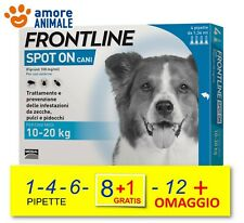 Frontline Spot On Cane per Cani da 10-20 kg  1 / 4 / 6 / 8+1  / 12 pipette