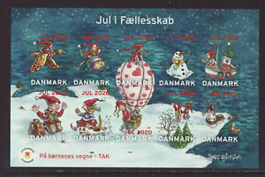 Denmark 2020 MNH - Christmas Stamps -  m/sheet with 10 stamps