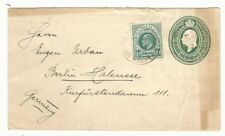 Natal: 1908; Postal Stationery, type envelope, additional postage, VF, NL07