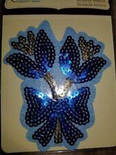 blue flower embellishment recollection scrapbook sticker
