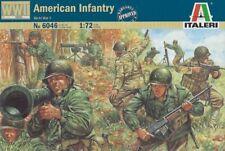Italeri 6046 1/72 Scale Military Figures Model Kit WWII U.S American Infantry