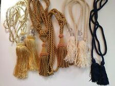 Curtain Tie backs with tassles 3 pairs beautiful condition