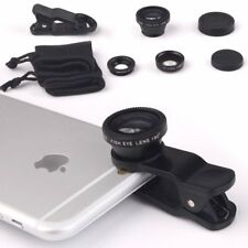 3in1 Camera Lens Kit Fish Eye + Micro + Wide Angle for Iphone Samsung HTC Huawei