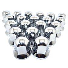100 X WHEEL NUT COVER CHROME ABS PLASTIC CAPS BOLT 32MM TRUCK TRAILER LORRY P25