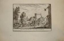 Stampa antica Cecilia Metella Appia Roma 1766 old print kupferstich