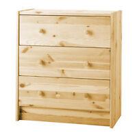 Chest of 3 drawers RAST Pine,62x70 cm